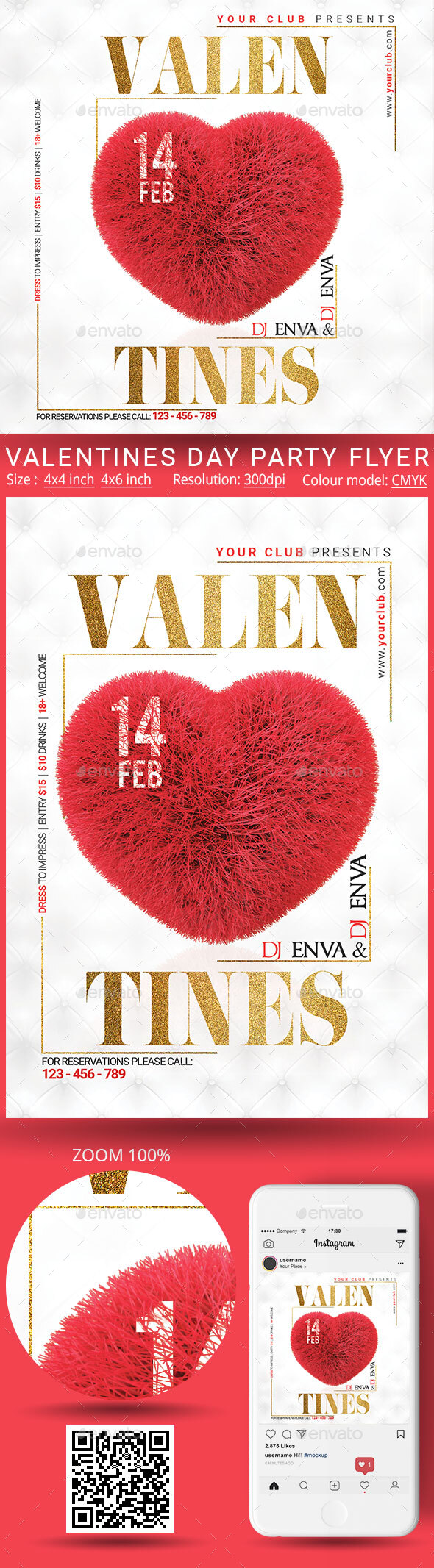 Flyers PSD – Valentine – Download
