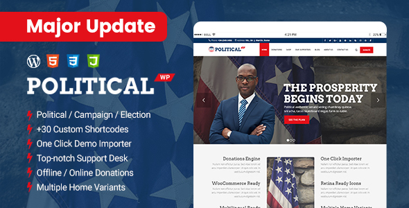 PoliticalWP – Political Advertising and marketing and marketing campaign WordPress Theme – WP Theme Download
