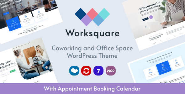 Worksquare – Coworking and Space of job Notify WordPress Theme  – WP Theme Download