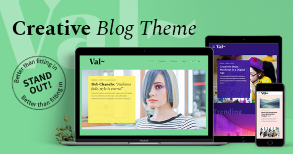Val – Inventive Blog – WP Theme Download