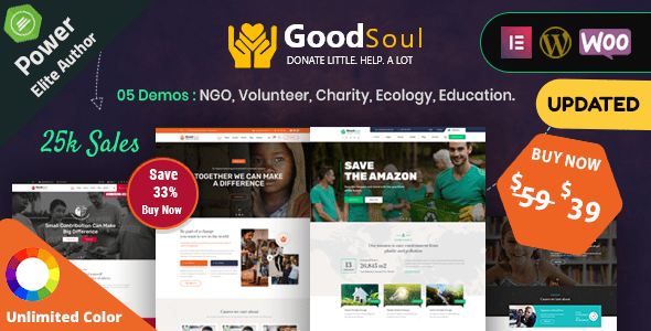 GoodSoul – Charity & Fundraising WordPress Theme – WP Theme Download