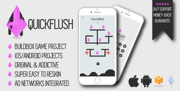 Quickflush – iOS/Android/Buildbox Sport Venture – PHP Script Download