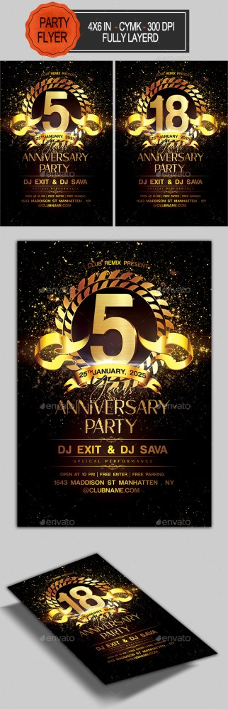 Flyers PSD – Anniversary Flyer – Download