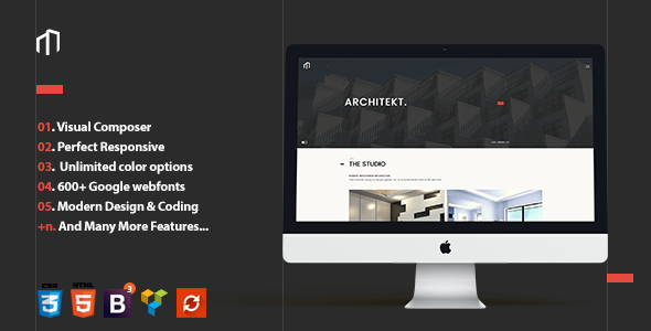 Responsive Architecture Theme | Architekt – WP Theme Download