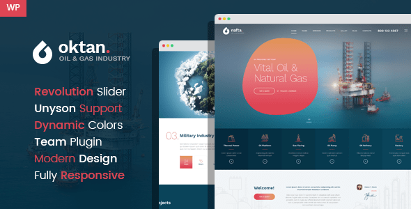 Oktan – Oil & Gas Industry WordPress Theme – WP Theme Download