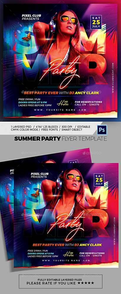 Flyers PSD – Summer Event – Download