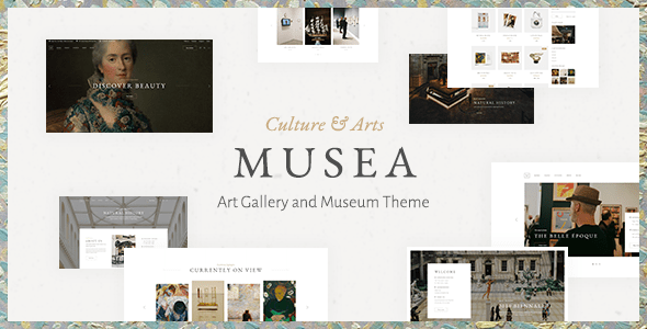 Musea – Art work Gallery and Museum Theme  – WP Theme Download