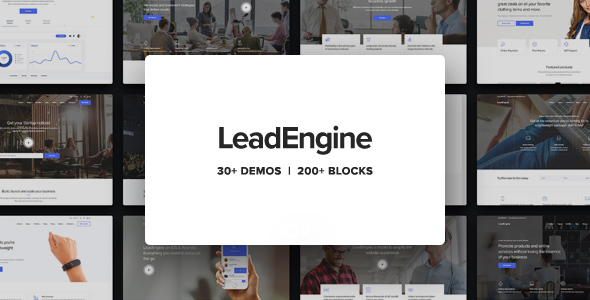LeadEngine – Multi-Reason WordPress Theme with Page Builder – WP Theme Download