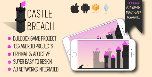 Castle Breach: iOS/Android/Buildbox Game Template – PHP Script Download