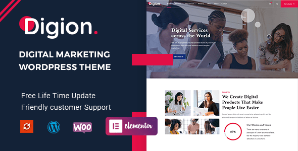 Digion – Online Digital Marketing WordPress Theme  – WP Theme Download