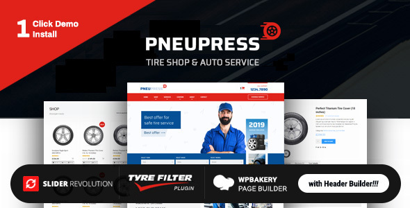PneuPress – Tire Store and Automobile Repair WordPress Theme – WP Theme Download