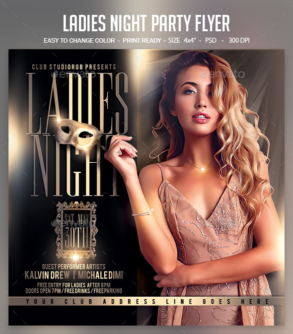 Flyers PSD – Females Night Event Flyer – Download