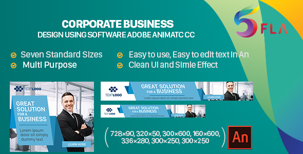 Company Enterprise Banners HTML5 – 7size (Animate CC) – PHP Script Download