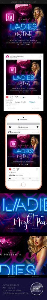 Flyers PSD – Ladies Night Flyer – Download