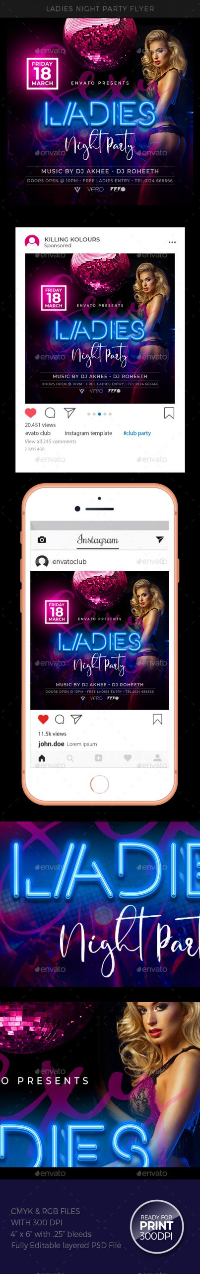 Flyers PSD – Ladies Night Flyer – Download