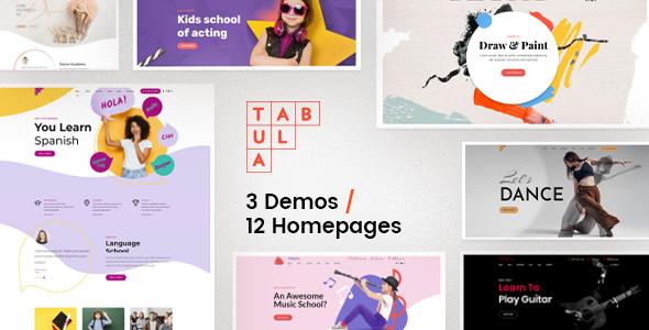 Tabula – Artwork, Tune & Language College – WP Theme Download