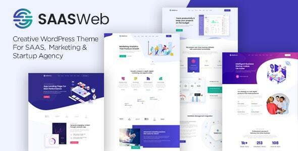 Saasweb – WordPress Theme For App & Saas Merchandise – WP Theme Download