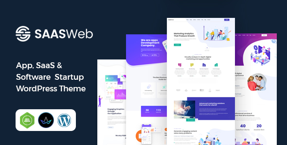 Saasweb – WordPress Theme For App & Saas Products  – WP Theme Download