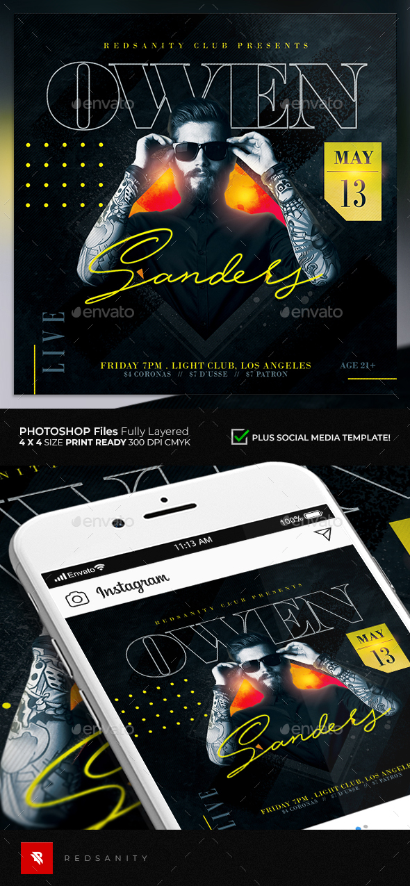 Flyers PSD – Visitor DJ Flyer  – Download
