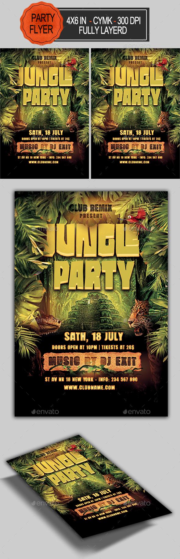 Flyers PSD – Jungle Celebration Flyer  – Download