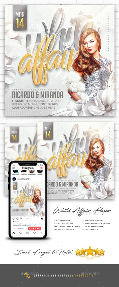 Flyers PSD – White Affair Flyer  – Download