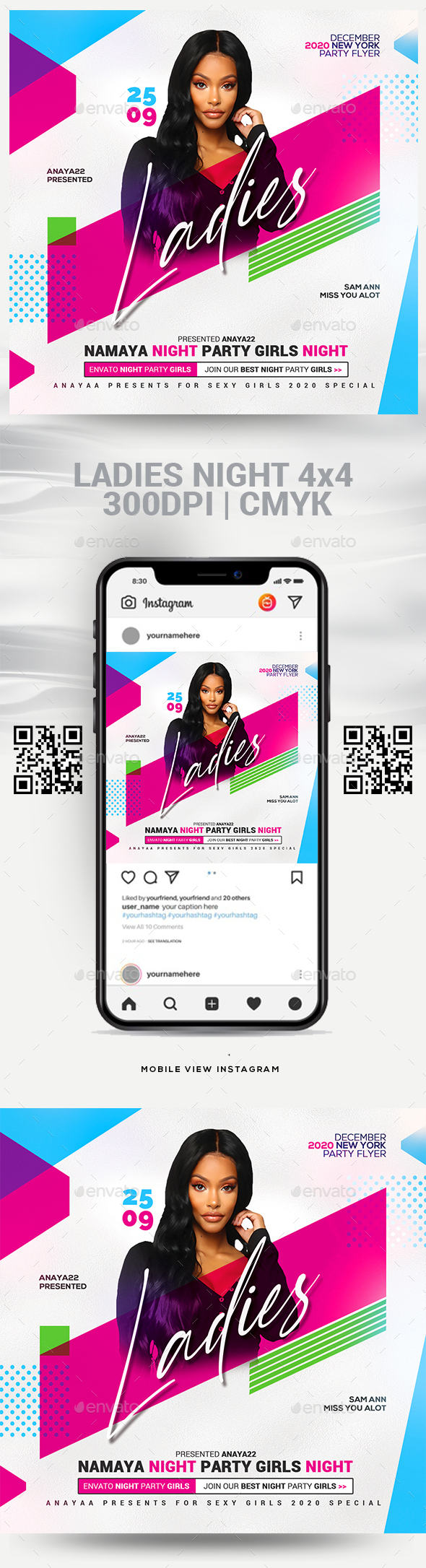 Flyers PSD – Girls Evening Flyer Template  – Download