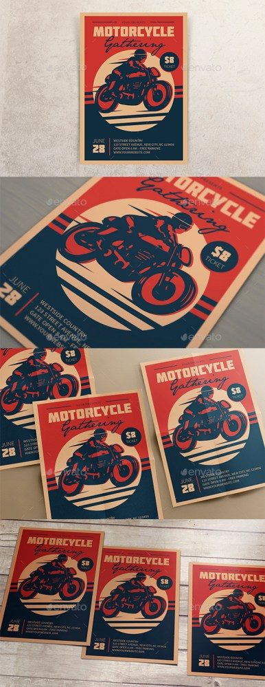 Flyers PSD – Motorcycle Gathering  – Download