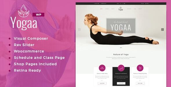 Yogaa – Healthy Elegance WordPress Theme  – WP Theme Download