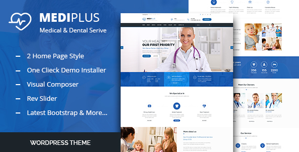 Medi Plus – Nicely being Care WordPress Theme  – WP Theme Download