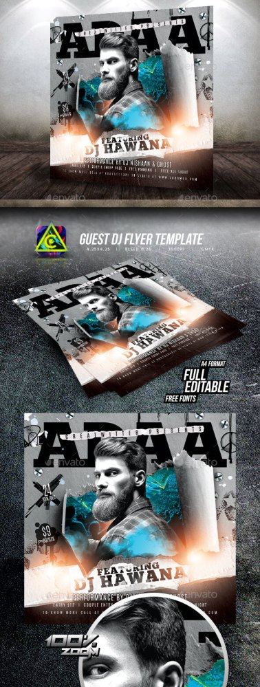 Flyers PSD – Customer Dj Flyer  – Download