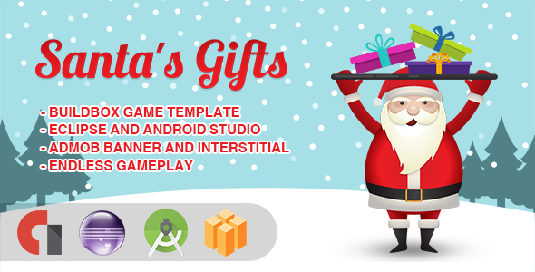 Santa's Gifts – Android Studio + Eclipse + Buildbox Template  – PHP Script Download