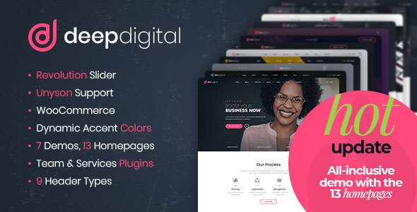 DeepDigital – Web Invent Company WordPress Theme  – WP Theme Download