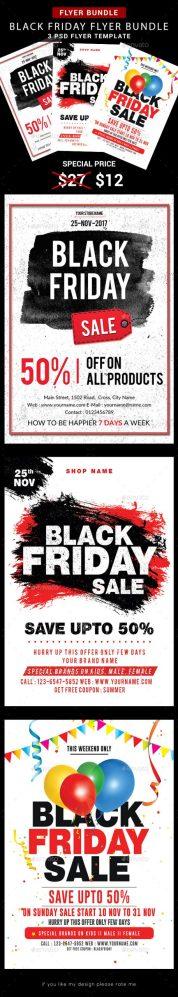 Flyers PSD – Gloomy Friday Flyer – Bundle  – Download