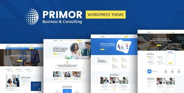Primor – Industry Consulting WordPress Theme  – WP Theme Download