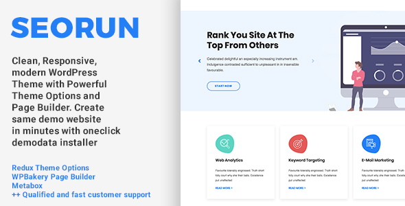 Seorun – Seo Agency WordPress Theme  – WP Theme Download