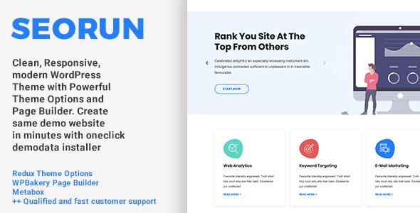 Seorun – Seo Agency WordPress Theme  – WP Theme Download