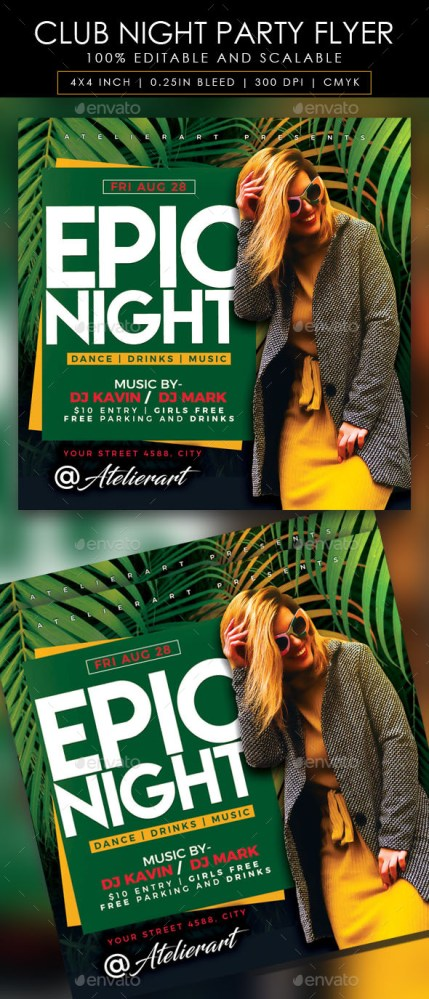 Flyers PSD – Club Night Party Flyer  – Download