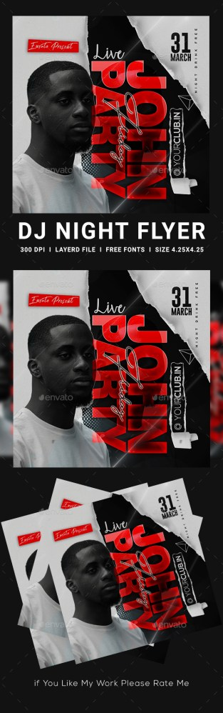 Flyers PSD – Artist Concert Flyer  – Download