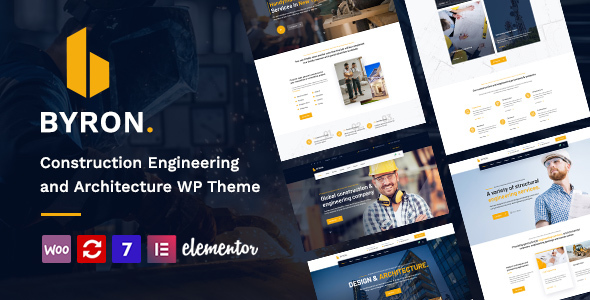 Byron | Constructing and Engineering WordPress Theme  – WP Theme Download