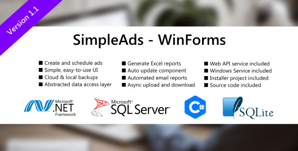SimpleAds – WinForm and ASP.NET Web API  – PHP Script Download