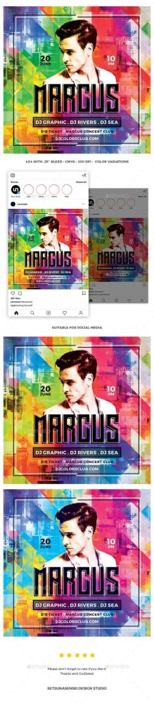 Flyers PSD – DJ Color Flyer  – Download