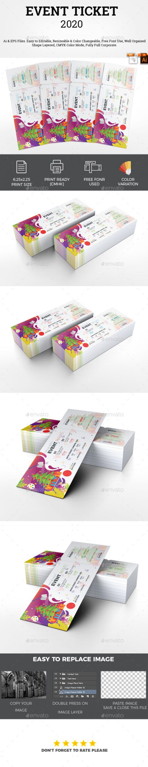 Flyers PSD – Match Ticket  – Download