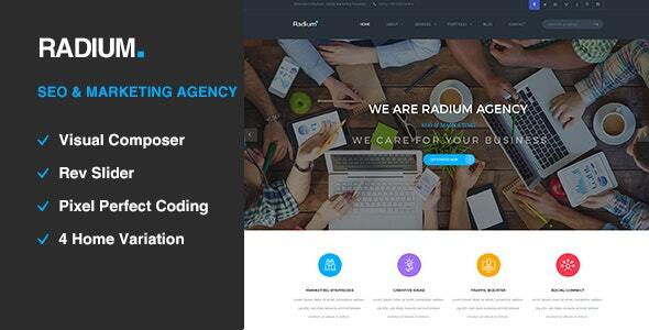 Radium – SEO /Digital Company WordPress Theme  – WP Theme Download