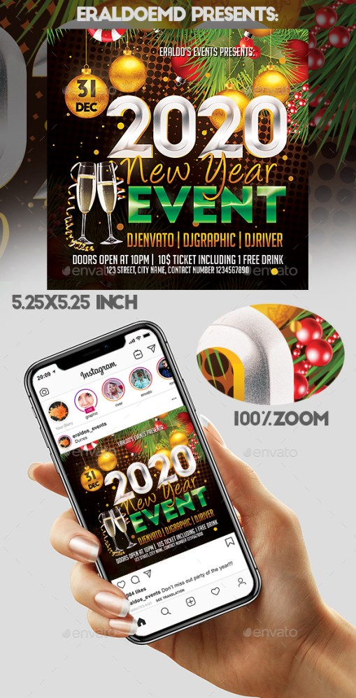 Flyers PSD – New Year Match Flyer  – Download