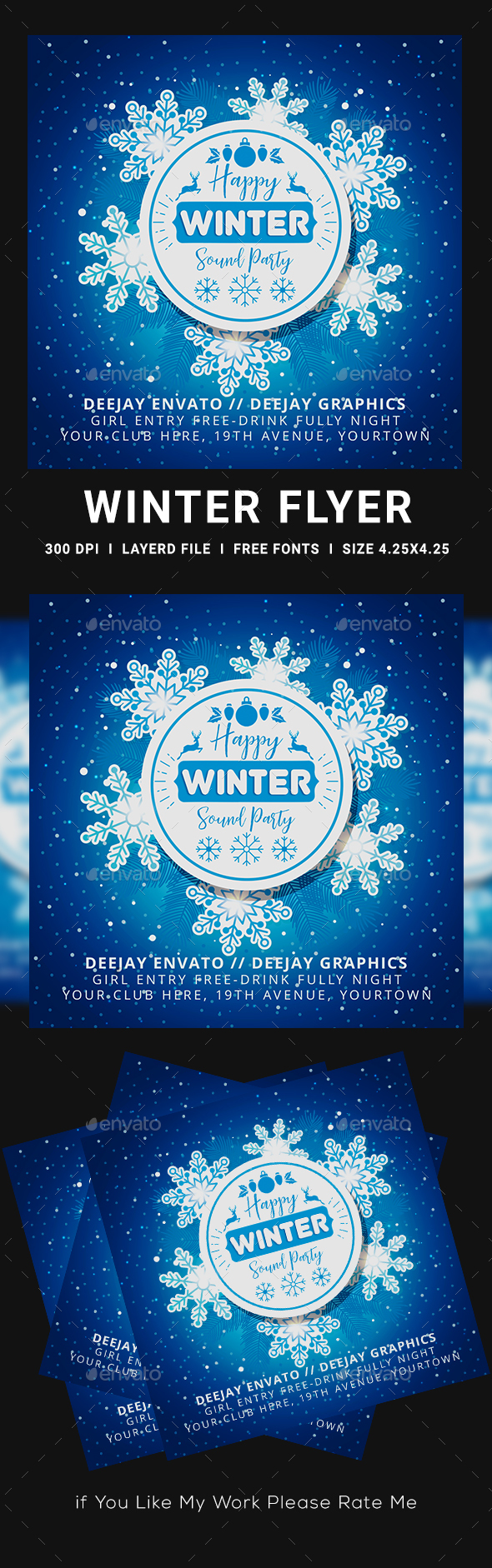 Flyers PSD – Winter Flyer  – Download