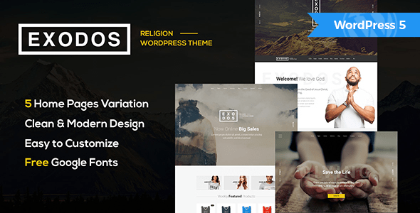 Exodos – Church WordPress Theme  – WP Theme Download