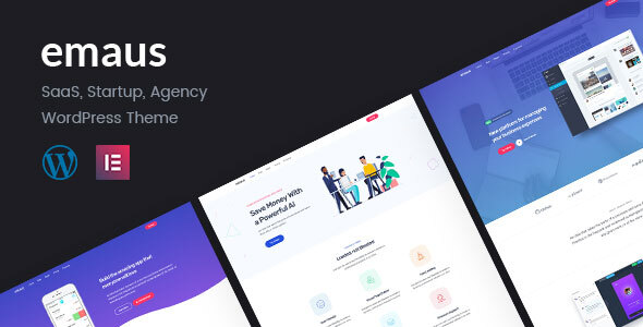 Emaus | SaaS App and Startup Elementor WordPress Theme  – WP Theme Download