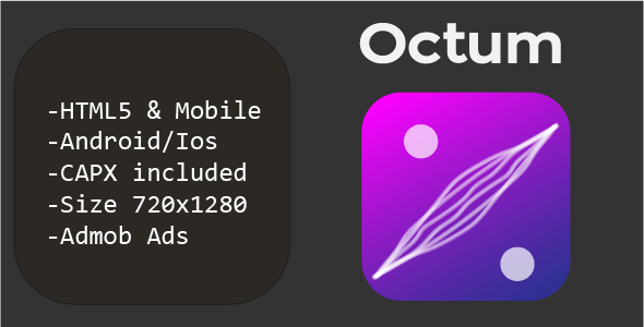 Octum (HTML5 + Cell Version) Influence 2/3  – PHP Script Download