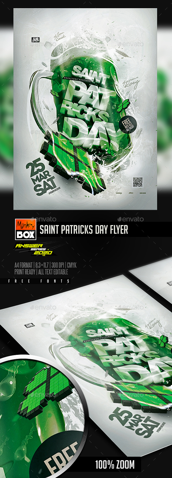 Flyers PSD – Saint Patricks Day Flyer  – Download