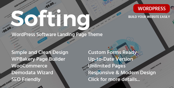 Softing – Responsive Tool Touchdown Web yelp WordPress Theme  – WP Theme Download